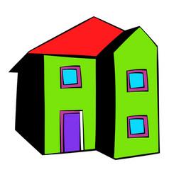 two-storey house icon icon cartoon vector image vector image