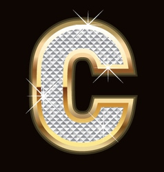 c bling bling vector image vector image