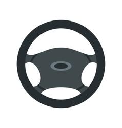 Car rudder icon flat style vector