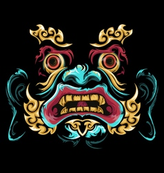 chinese mask vector image