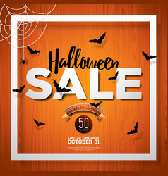 hallowen sale with spider and holiday elements on vector image vector image