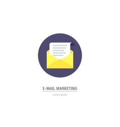 letter in flat style - internet marketing vector image