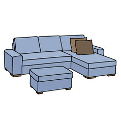 light blue couch vector image
