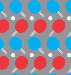 Ping pong seamless pattern vector image vector image