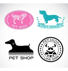 Set of an pet shop label vector image vector image