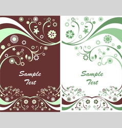 Two spring flyers vector image vector image
