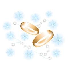 vector golden wedding rings vector image vector image