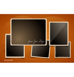 Collection of Grunge Foto Frames vector image vector image