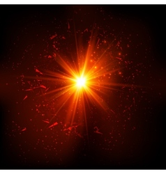 Dark red space explosion vector image
