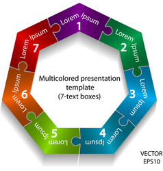 heptagon texts box vector image