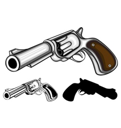 revolvers set vector image vector image