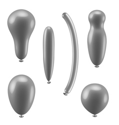 Set of different types of balloons vector image