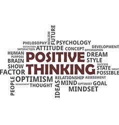 word cloud positive thinking vector image