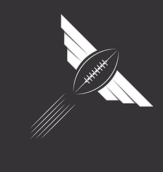 Ball with wings of American football or rugby vector image vector image