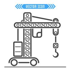 building crane icon sign symbol vector image