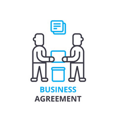 business agreement concept outline icon linear vector image
