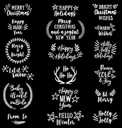 Christmas and New Year set vector image vector image