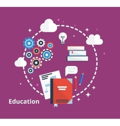 Education concept - Flat vector image vector image