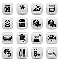electronic home devices icons vector image