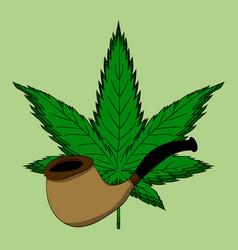 hemp leaf dependence on marijuana vector image