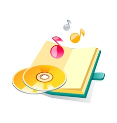 icon cds and diary vector image vector image