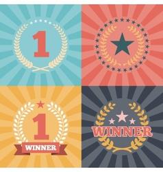 Laurel Wreaths Awards vector image vector image