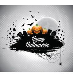 on a Halloween theme vector image vector image