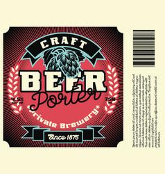 vintage frame design for beer label vector image