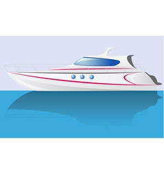 white speed yacht vector image vector image