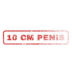 10 cm penis rubber stamp vector image