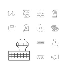 13 control icons vector