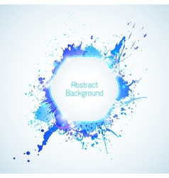 Abstract background with blue elements and drops vector image