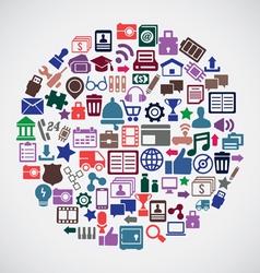 Abstract concept of social media vector