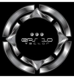 Abstract metallic shape logo vector