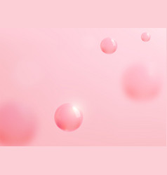 Abstract pink background with liquid fluid vector