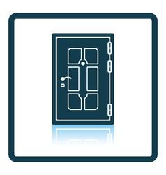 Apartments door icon vector image