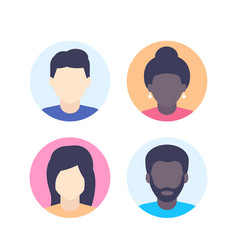 avatars default photo placeholders vector image