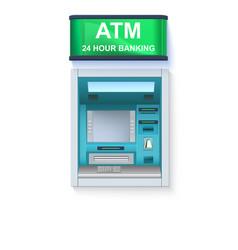 Bank cash machine atm - automated teller machine vector