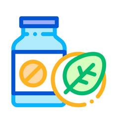 bio medicines supplements icon vector image