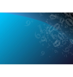 Blue numbers vector
