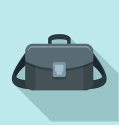 camera bag icon flat style vector image