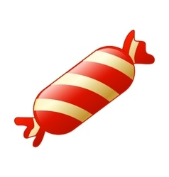 Candy cane isolated on white vector image