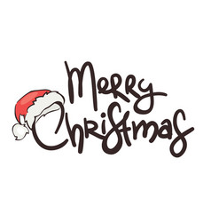 christmas background with santas hat vector image