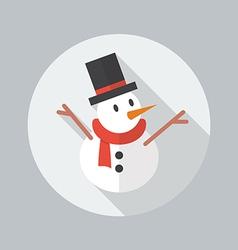 Christmas Flat Icon Snowman vector