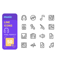 collection various equipment to reproduce music vector image