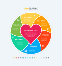 Colorful diagram infographic template love vector
