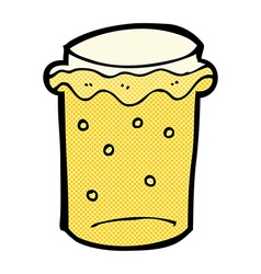 Comic cartoon glass of beer vector