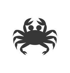 Crab cute animal sea little icon vector