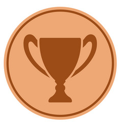 Cup bronze coin vector