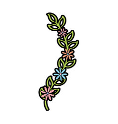 Cute garden flower decorative icon vector